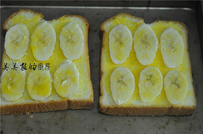 香蕉烤土司怎么做