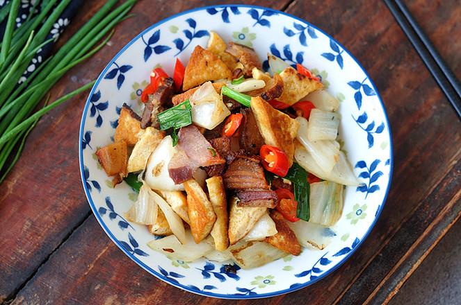 豆腐咸肉燒白菜成品圖