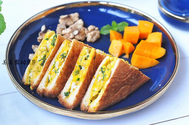 雞蛋三明治成品圖