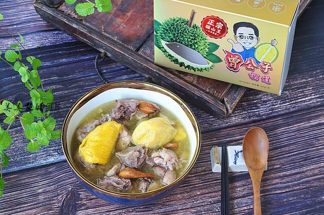 榴莲炖鸡成品图