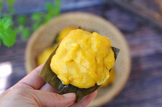玉米南瓜蒸糕成品图