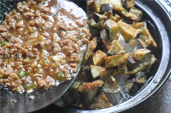 茄子豆腐粉丝煲的制作