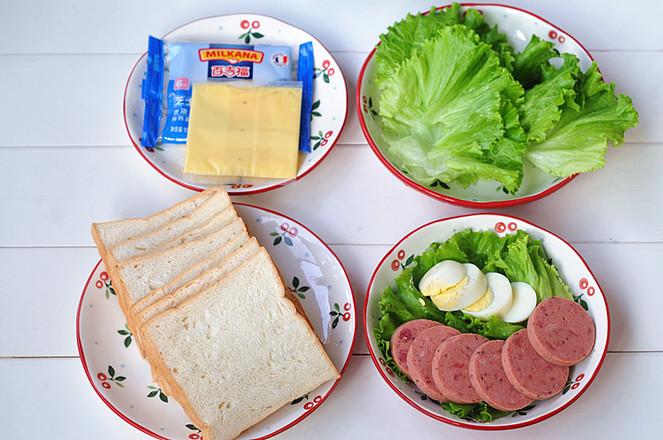 芝士火腿鸡蛋三明治的做法大全