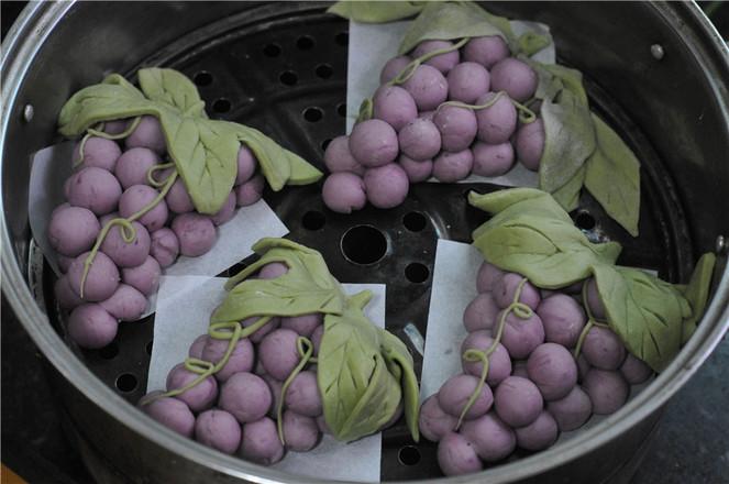 中秋玩面粉——葡萄馒头怎样煸