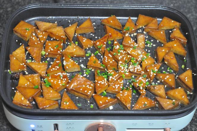 蜜汁三角豆干怎么煸