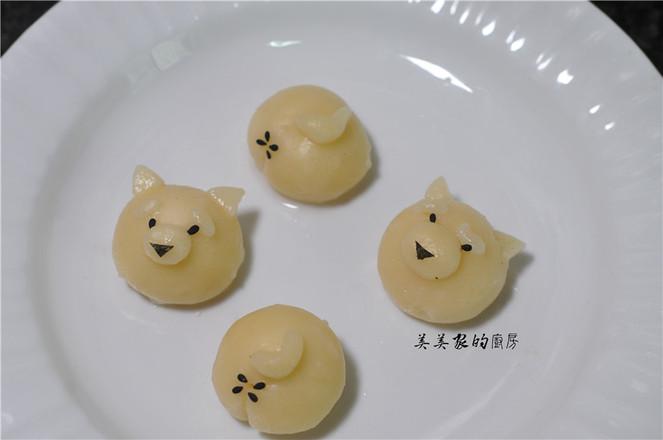 柴犬汤圆的制作