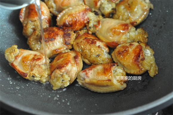 香煎鸡翅包饭的步骤