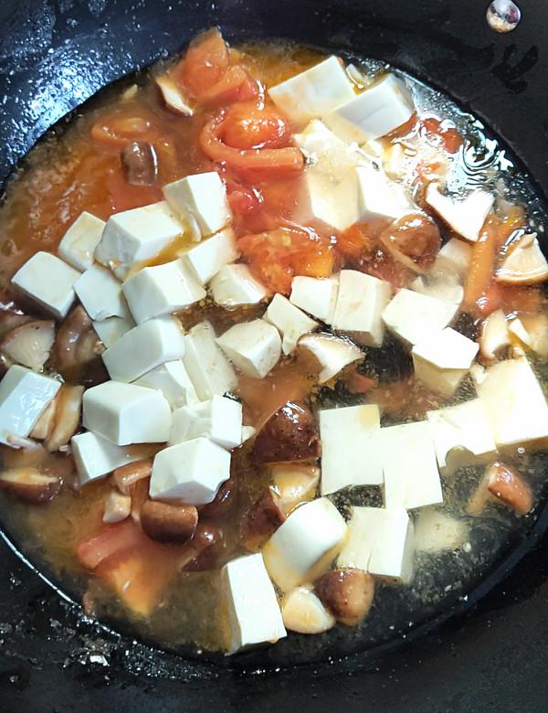 番茄香菇烩豆腐怎么吃