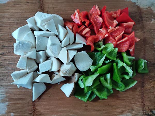 空气炸锅烤五花肉杂蔬的步骤