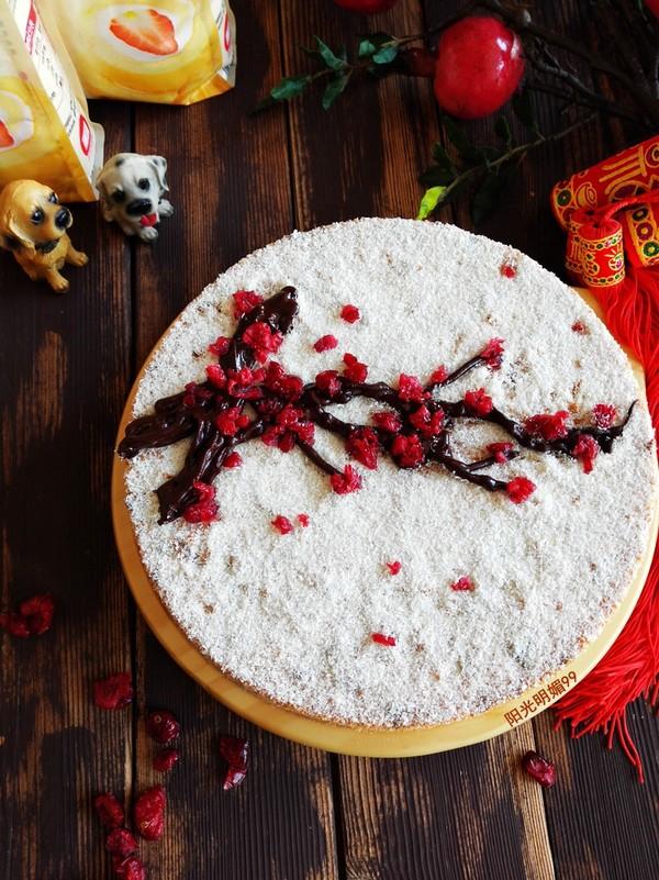 红梅报春戚风蛋糕的做法大全