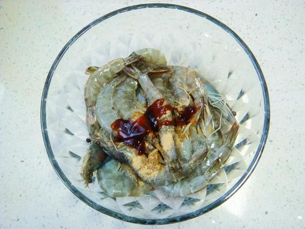 蒜蓉烤鲜虾的做法图解