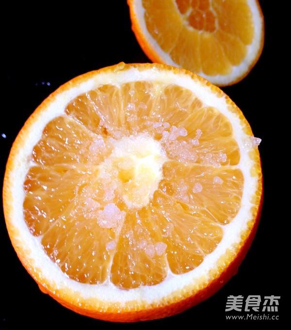 盐蒸橙子的家常做法