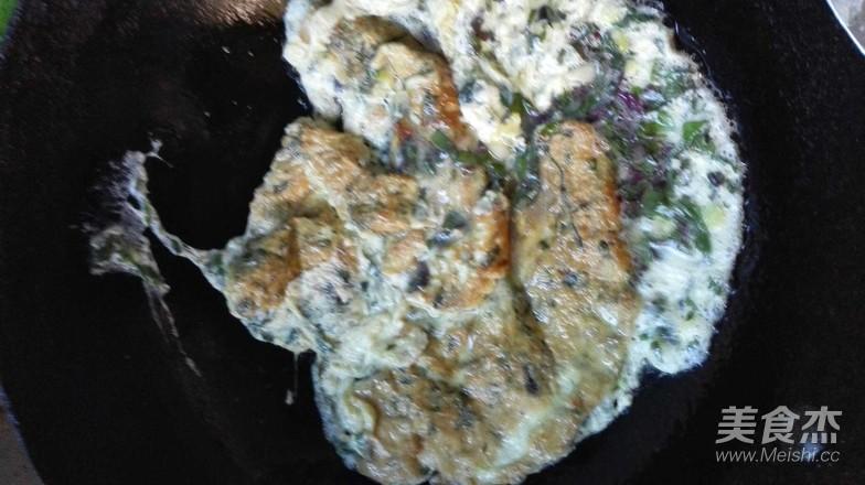 紫苏叶炒鸡蛋怎么炒