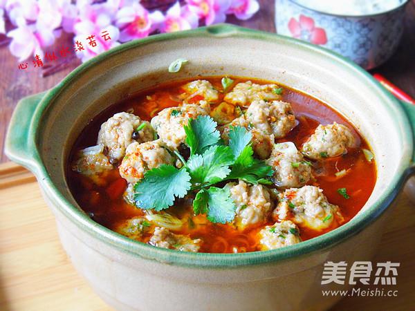 红汤香菜丸子怎样做