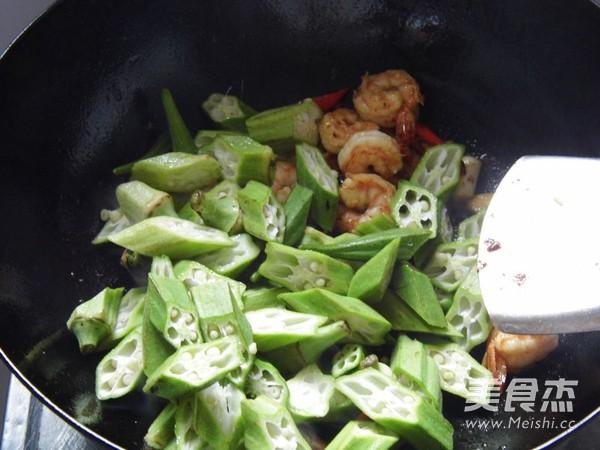 秋葵炒虾仁怎么煮