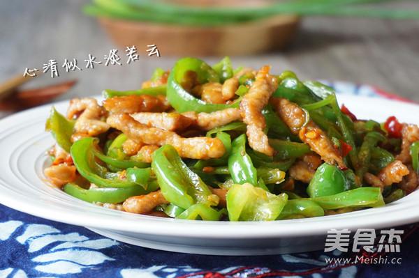 青椒肉丝成品图