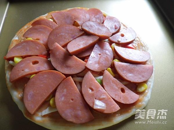 火腿彩椒披萨的步骤
