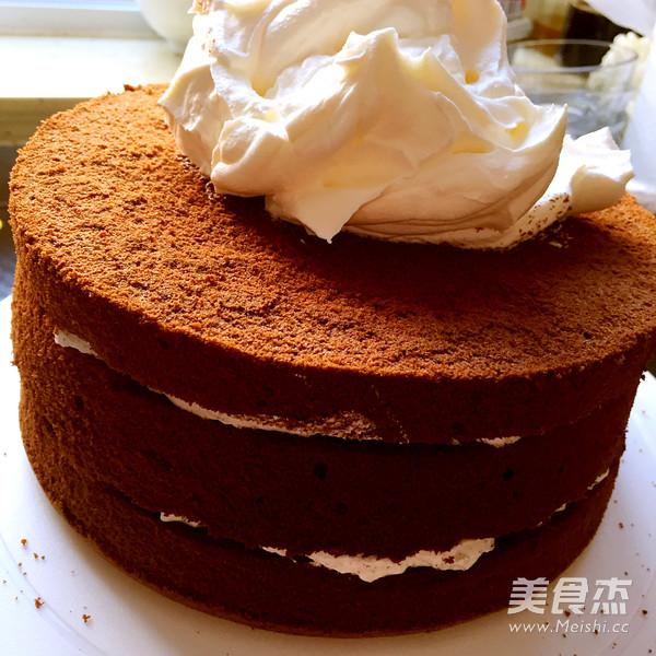 巧克力戚风蛋糕(8寸)成品图