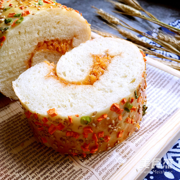 肉松面包卷的制作
