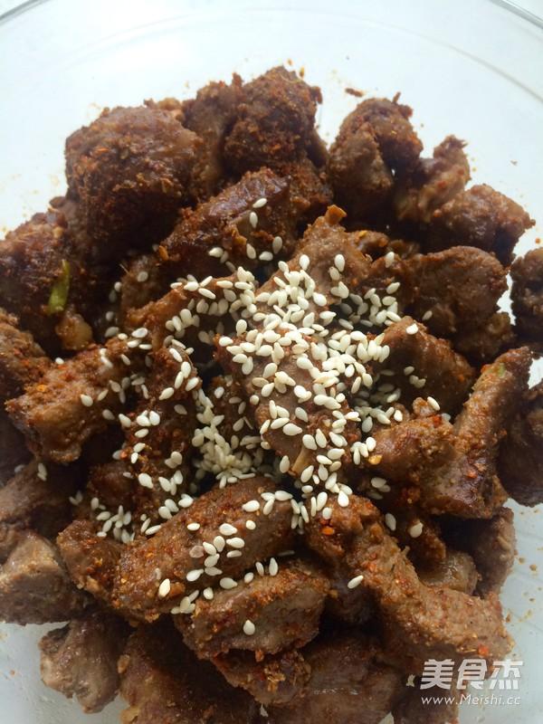 新疆风味烤羊肉块怎样炒