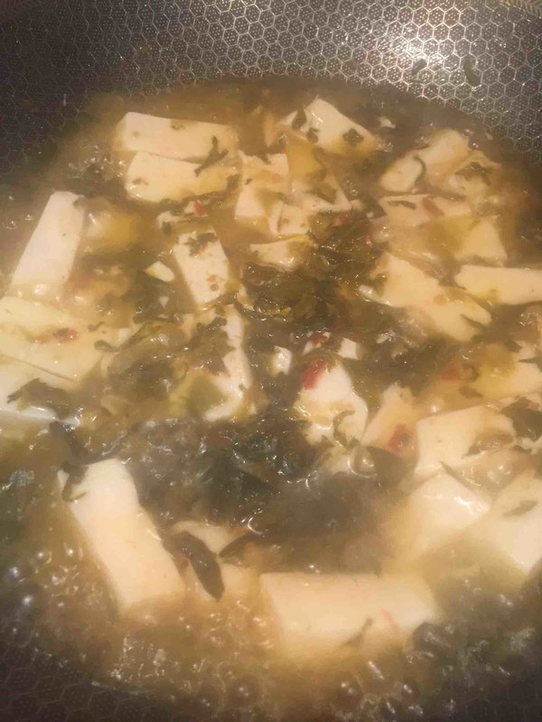 老坛酸菜豆腐怎么做
