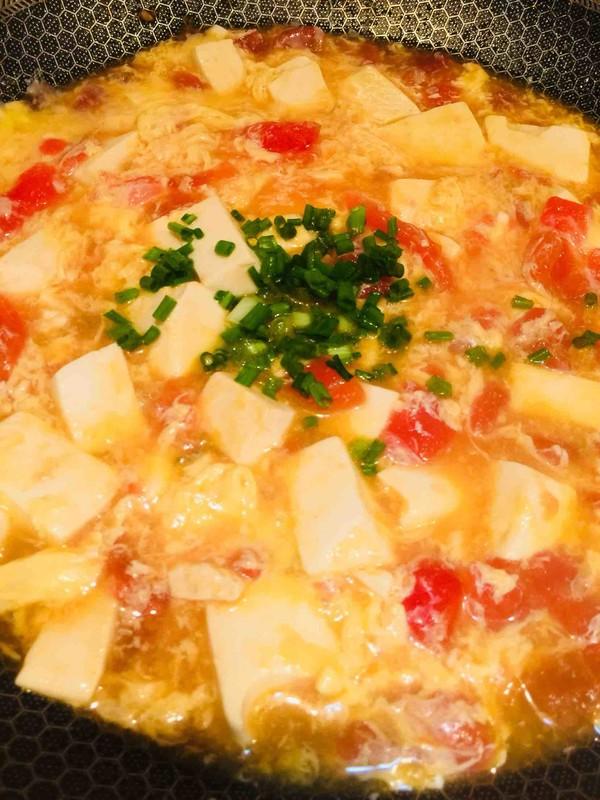 番茄豆腐蛋花汤怎么炒