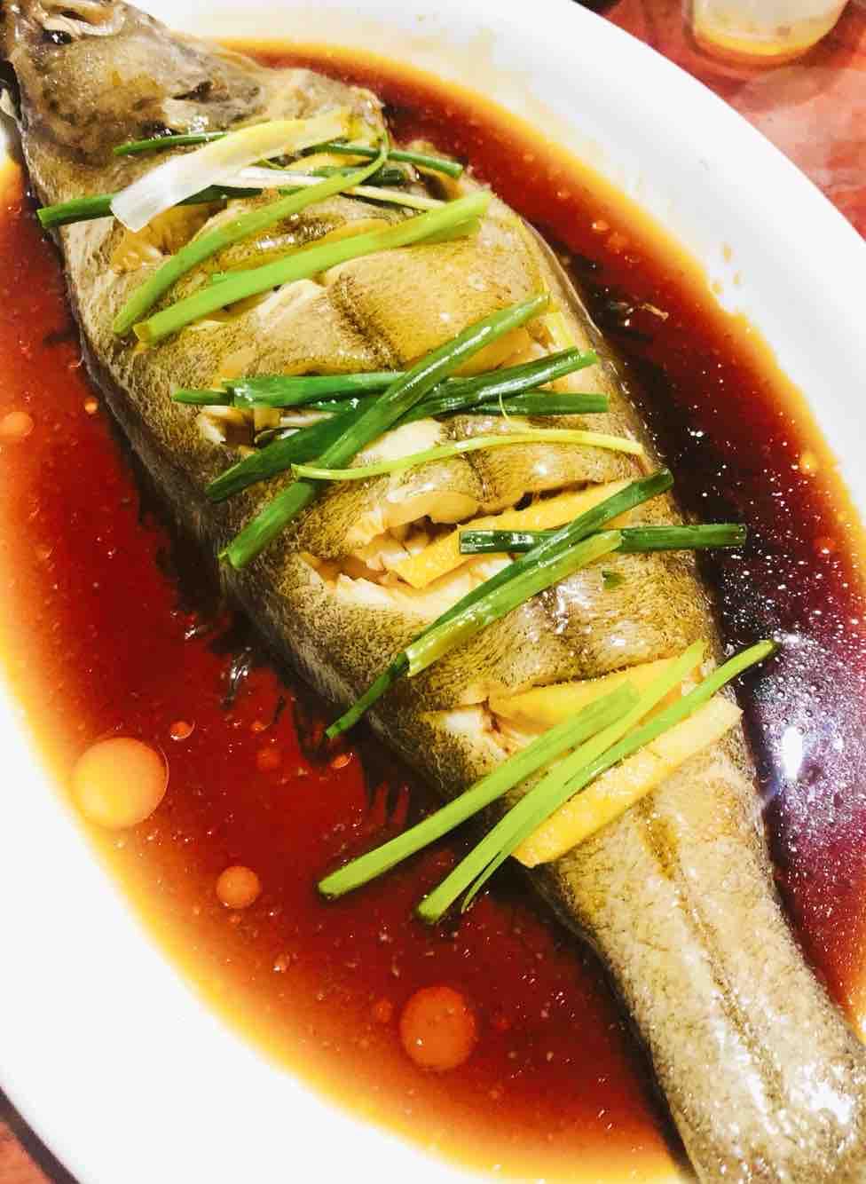 清蒸鸦片鱼成品图