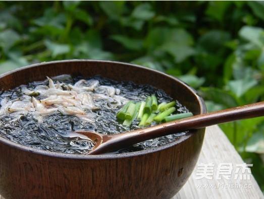 紫菜虾皮汤怎么吃