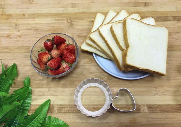 草莓爱心吐司的做法大全