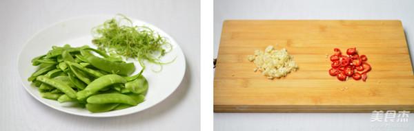 蒜香荷兰豆的做法大全