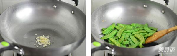 蒜香荷兰豆的做法图解
