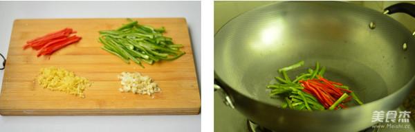 青椒肉丝的步骤
