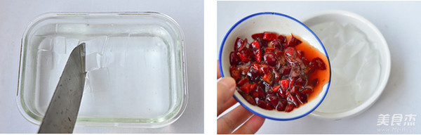 樱桃冰粉的步骤