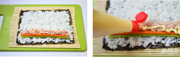 金枪鱼手卷寿司的家常做法