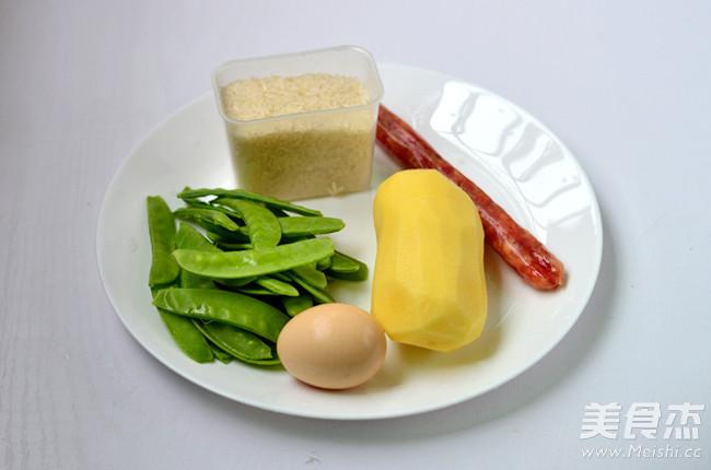 土豆腊肠焖饭的做法大全