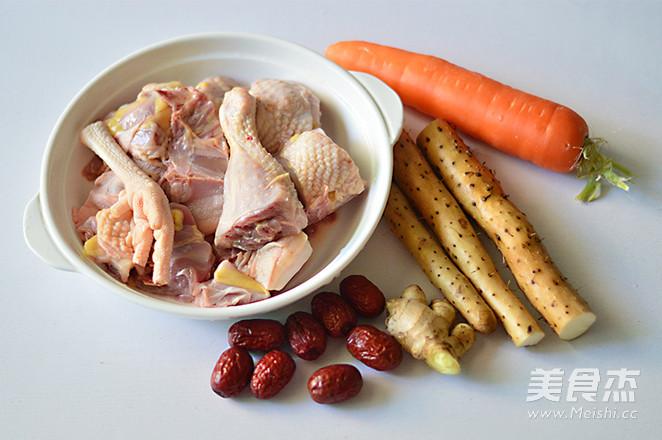 胡萝卜淮山炖鸡汤的做法大全