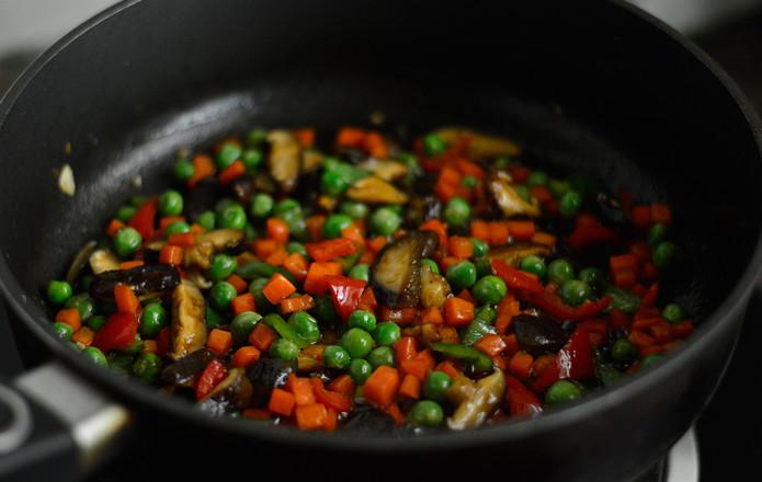 香菇炒豌豆怎么炖