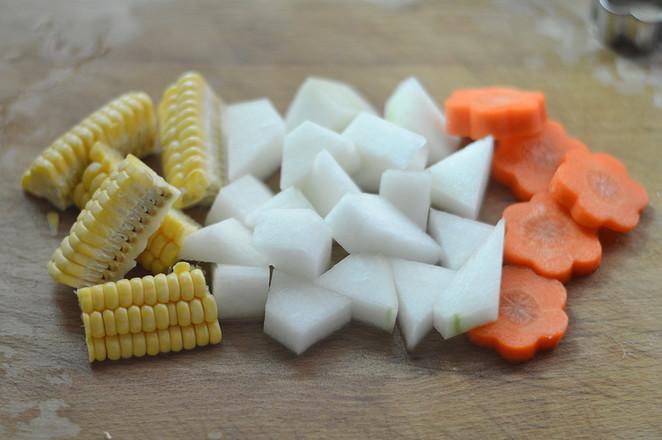 冬瓜玉米排骨汤(辅食)的做法图解