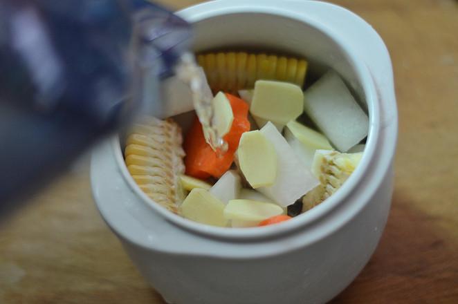 冬瓜玉米排骨汤(辅食)怎么做