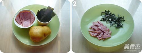 海苔火腿脆脆薯的做法大全