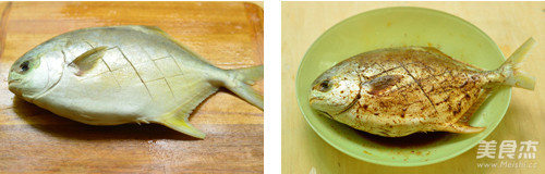 五香烤鲳鱼的做法图解