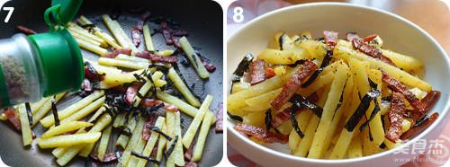 海苔火腿脆脆薯的简单做法