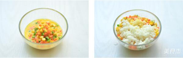 彩蔬米饭蛋饼的家常做法