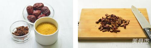 红糖小米粥的步骤
