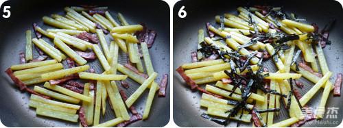 海苔火腿脆脆薯的家常做法