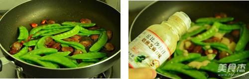 芝香腊肠荷兰豆的家常做法