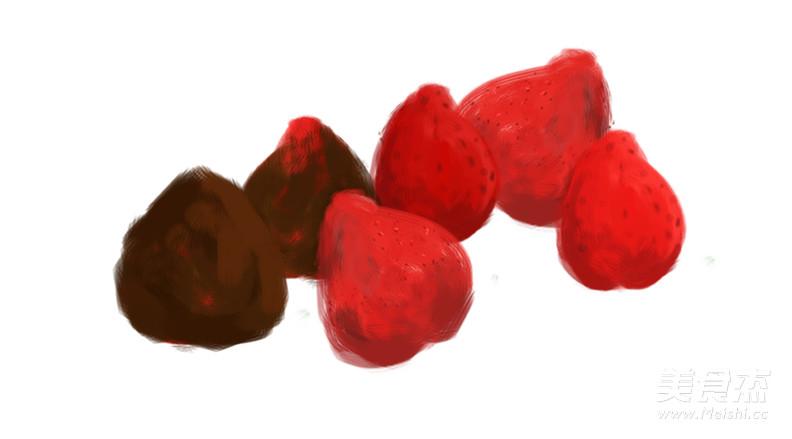 手绘食谱:草莓大福 趁春天伊始之际 多吃几个春果吧的做法大全