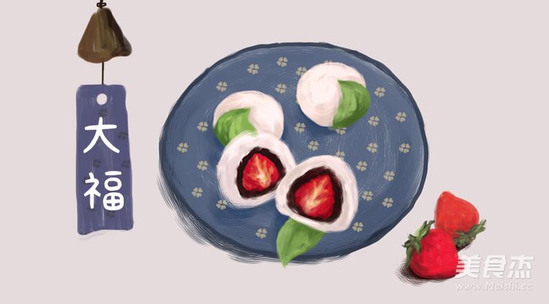 手绘食谱:草莓大福 趁春天伊始之际 多吃几个春果吧怎么吃