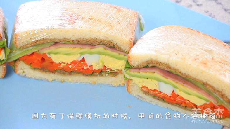 牛油果鸡蛋火腿三明治怎样炒
