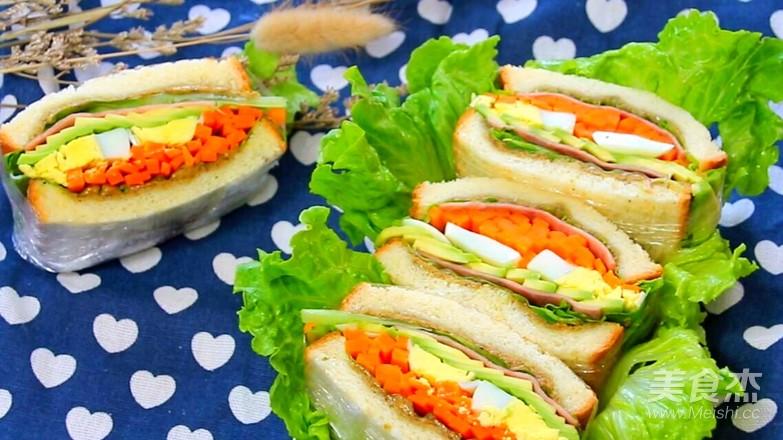 牛油果鸡蛋火腿三明治怎样煮